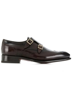 Santoni buckled oxford shoes