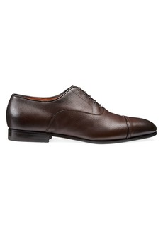 Santoni Cap Toe Lace-Up Dress Shoes