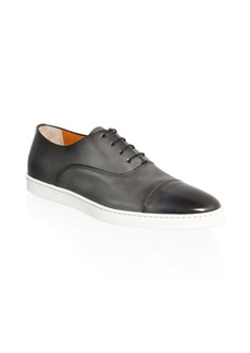 Santoni DURBIN Cap-Toe Lace-Up Sneakers