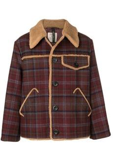 Santoni checked shirt jacket
