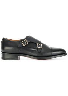 Santoni classic buckled monk shoes