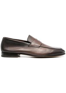Santoni classic polished slip-on loafers