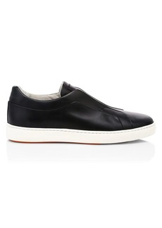 Santoni Clean Icon Pass Laceless Leather Sneakers