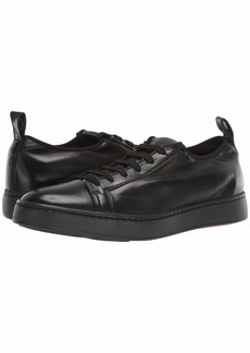 Santoni Cleanic Stretch Leather Lace-Up Sneaker