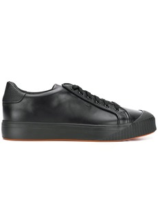 Santoni contrast piping low-top sneakers