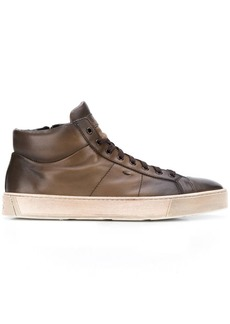 Santoni distressed hi-top sneaker