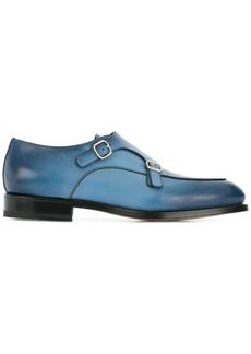 Santoni double buckle loafers