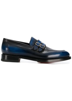 Santoni double buckle loafers
