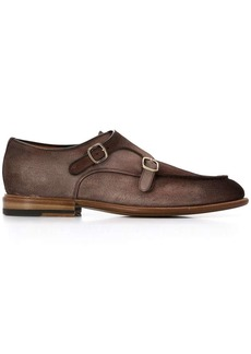 Santoni double monk strap shoes
