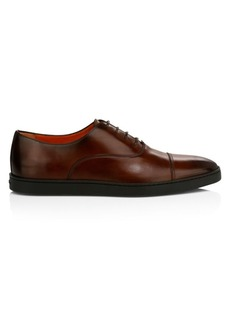 Santoni Durbin Lace-Up Leather Dress Shoes