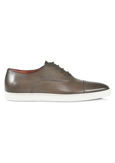Santoni Durbin Leather Loafers