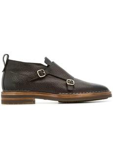 Santoni embossed monk shoes