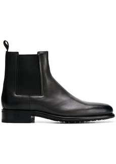 Santoni flat chelsea boots