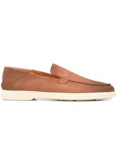 Santoni flat sole loafers