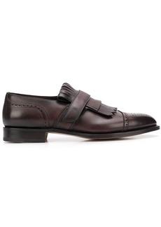 Santoni fringe loafers