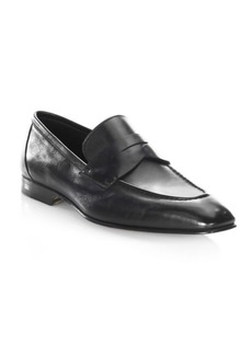 Santoni Gannon-1 Leather Penny Loafers