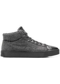Santoni herringbone hi-top sneakers