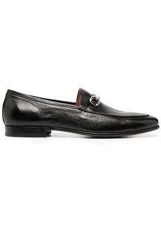 Santoni horsebit leather loafers