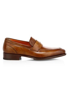 Santoni Ibiscus Leather Penny Loafers
