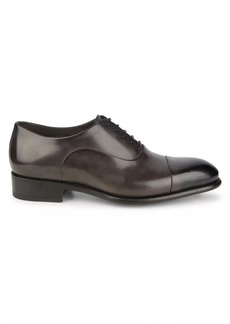 Santoni Isaac Leather Oxford Dress Shoes