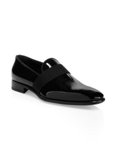 Santoni Isomer Patent Leather Loafers