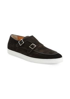 Santoni Jarvis Suede Buckle Sneakers