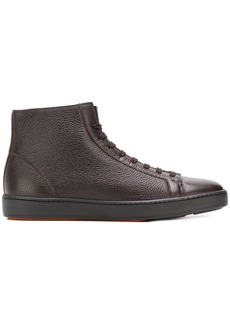 Santoni lace-up hi-top sneakers