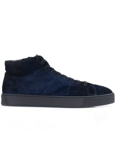 Santoni lace-up high top sneakers