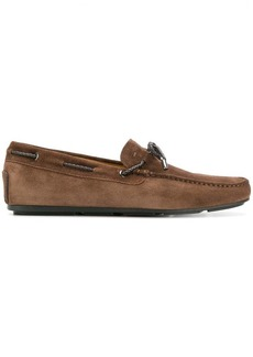 Santoni lace up loafers
