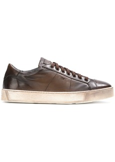 Santoni lace up sneakers