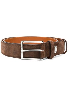 Santoni large buckle belt