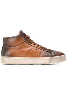 Santoni leather low top sneakers