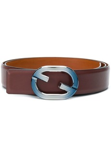 Santoni logo buckle belt