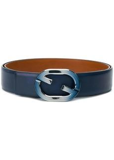 Santoni logo buckle belt