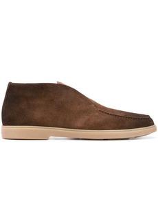 Santoni low-top suede boots
