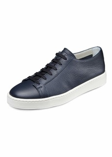 Santoni Men's Clean Iconic Leather Low-Top Sneakers  Navy