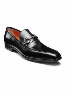 Santoni Men's Ivo Leather Loafers  Black