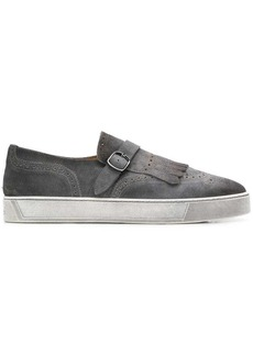 Santoni monk strap slip-on shoes