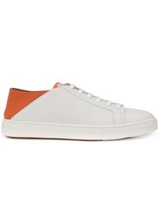 Santoni orange leather sneaker