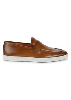 Santoni Pace Leather Loafers