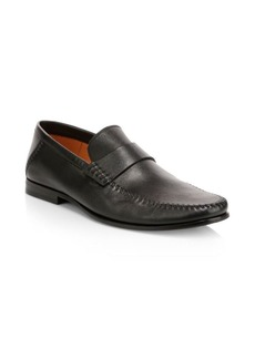 Santoni Paine Leather Moccasin Loafers