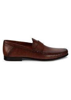 Santoni Paine Leather Penny Loafers