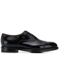 Santoni patent derby shoes