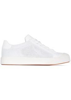 Santoni perforated low top sneakers
