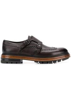 Santoni platform monk shoes