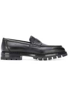 Santoni ridged-sole penny loafers