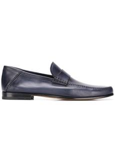 Santoni round toe loafers