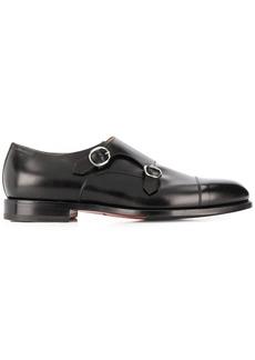 Santoni round-toe low-heel monk shoes