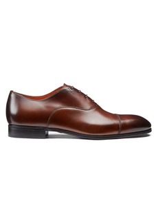 Santoni Salem Captoe Leather Oxfords