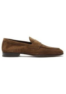 Santoni Carlos suede penny loafers